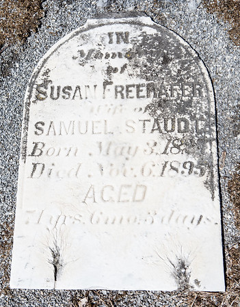 Susan Freehafer wife of Samuel Staudt. May 3, 18__ - Nov 6, 1895