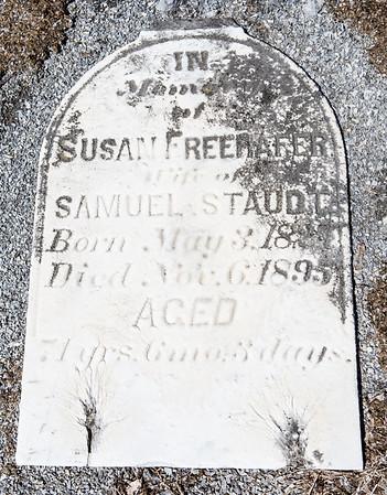 Susan Freehafer wife of Samuel Staudt. May 3, 18__ - Nov 6, 1895