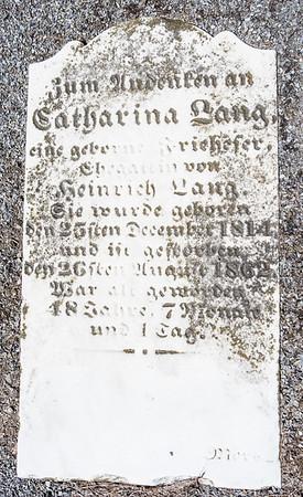 Catharina Lang ... December 25, 1814 - ...26, 1862, ...