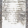 Catharina Lang ... December 25, 1814 - ...26, 1862, ...