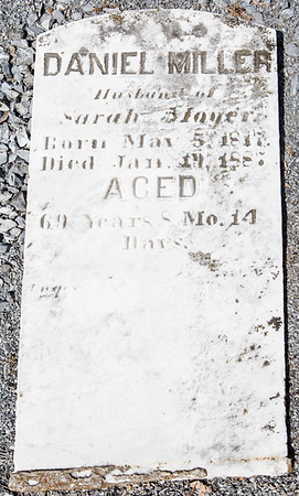 Daniel Miller, husband of Sarah Moyer, May 5, 1817 - Jan 19, 1887 ...