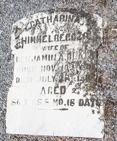 Catharina Himmelberger, wife of Benjamin A. Blatt, Nov 10 ... - July 28 ..., 86 years 8 months 18 days.