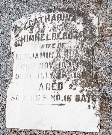 Catharina Himmelberger, wife of Benjamin A. Blatt, Nov 10 ... - July 28 ..., 86 years 8 months 18 days.