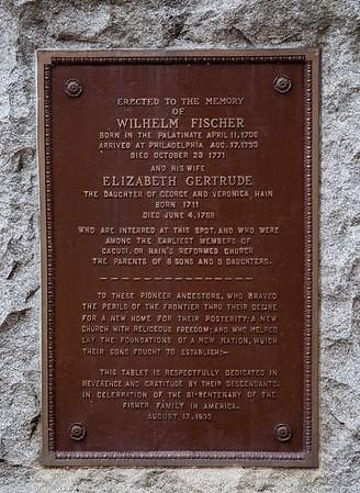 Wilhelm Fischer 1706 -  1771, and his wife Elizabeth Gertrude Hain, 1711 - 1768