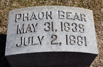 Phaon Bear, May 31, 1839 - July 2, 1881