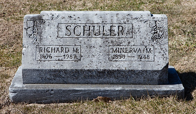 Richard M. Schuler 1896 - 1987 and Minerva M. Schuler, 1899 - 1948.
