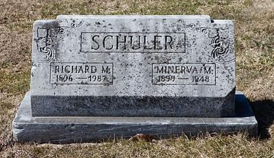 Richard M. Schuler 1896 - 1987 and Minerva M. Schuler, 1899 - 1948.