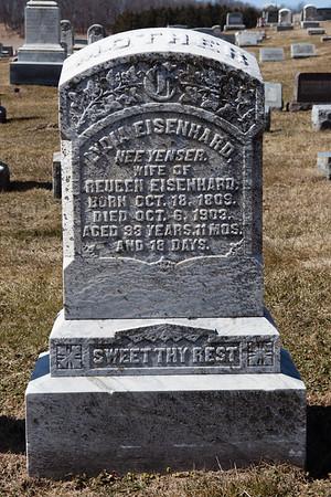 Lydia (Yenser) Eisenhard, Oct 18, 1809 - Oct 6, 1903.  Wife of Reuben Eisenhard.