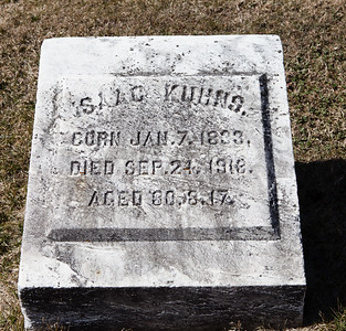 Isaac Kuhns, Jan 7, 1833 - Sep 24, 1918