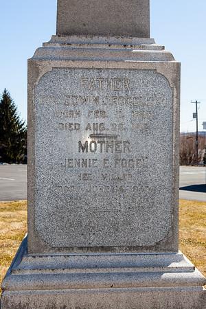 Father: Edwin Fogel, Feb 11, 1837 - Aug 23, 1912.  Mother: Jennie E. (Miller) Fogel, June 14, 1849 - Jan 2, 1946.