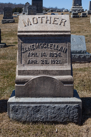 Mother: Jane McClellan, Apr 14, 1894 - Apr 28, 1921.