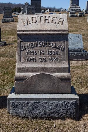 Mother: Jane McClellan, Apr 14, 1894 - Apr 28, 1921.