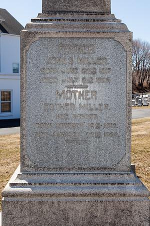 Father: Jonas Miller, June 22, 1817 - July 2, 1889.  Mother: Esther (Weiser) Miller, October 19, 1819 - Jan 20, 1890.