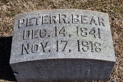 Peter R. Bear, Dec 14, 1841 - Nov 17, 1918.