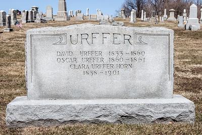 David Urffer, 1833 - 1860.  Oscar Urffer, 1860 - 1861. Clara Urffer Horn, 1838 - 1901.