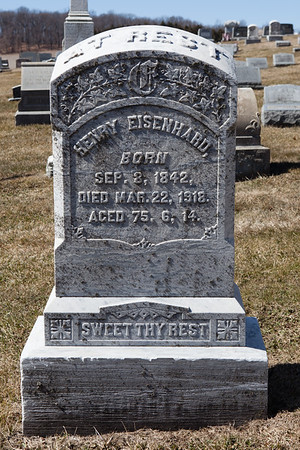 Henry Eisenhard, Sep 8, 1842 - Mar 22, 1918.