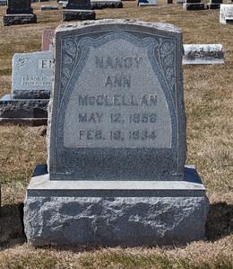 Nancy Ann McClellan, May 12, 1856 - Fegb 16, 1834.