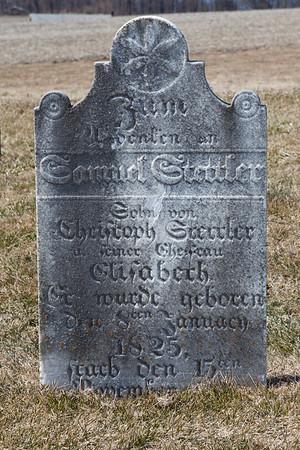 Samuel Stettler, ... Christoph Stettler ... Elisabeth ... Jan 8, 1825 - November (December?) 15, ____