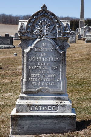 John Heinly, March 30, 1824 - Sept 6, 1888.