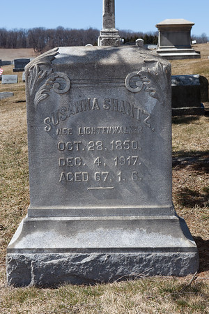 Susanna (Lightenwalner) Shantz, Oct 28, 1850 - Dec 4, 1917.
