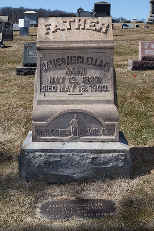 Father: James McClellan, May 12, 1827 - May 19, 1900.