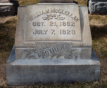 Brother: William McClellan, Oct 21, 1862 - July 7, 1928.