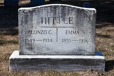 Alonzo C. Hittle, 1849 - 1934.  Emma S. Hittle, 1855 - 1936.
