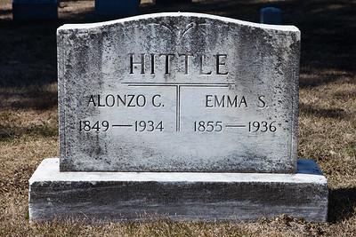 Alonzo C. Hittle, 1849 - 1934.  Emma S. Hittle, 1855 - 1936.