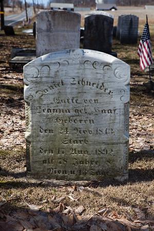Daneil Schneider, ___ 24, 1813 - Aug 17, 1892. Husband of Leanna ___ Haaf.