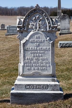 Helena (Kline) Heinly, Feb 26, 1825 - Dec 15, 1910.