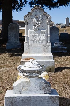 Herman Rupp, Feb 14, 1816 - Aug 19, 1877.