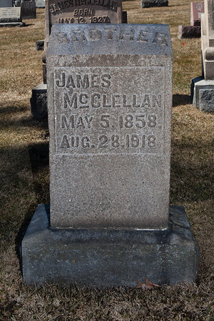 James McClellan, May 5, 1858 - Aug 28, 1918.