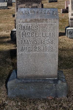 James McClellan, May 5, 1858 - Aug 28, 1918.