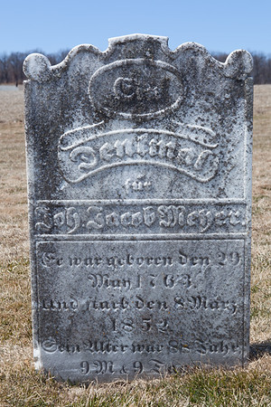 Joh. Jacob Meher, May 19, 1763 - March 8, 1852,