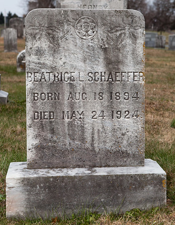 Beatrice L. Schaeffer, born August 18, 1894, died May 24, 1924