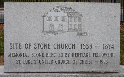 Site of Stone Church 1835 - 1874 (St. Luke's United Church of Christ)
