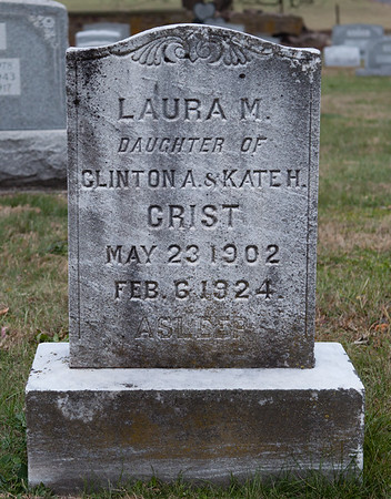Laura M. daughter of Clinton & Kate H. Crist, 1902 - 1924