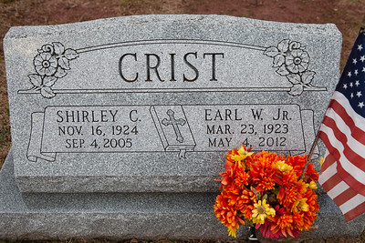 Crist; Shirely C., Nov 16, 1924 - Sep. 4, 2005 and Earl W. Jr., Mar. 23, 1923 - May 4, 2012