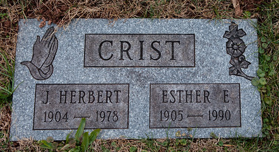 Crist; J. Herbert, 1904 - 1978 and  Esther E., 1905 - 1990