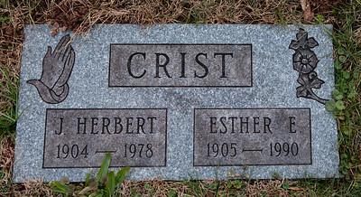 Crist; J. Herbert, 1904 - 1978 and  Esther E., 1905 - 1990