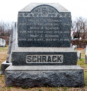 Michael R. Schrack 1825 - 1900. Mary B. Schrack 1825 - 1900. Mary E. Schrack 1853 - 1856