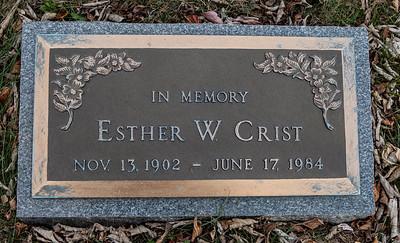 Esther W. Crist, Nov 13, 1902 - June 17 1984