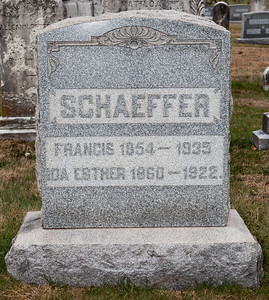 Schaeffer, Francis 1854 - 1935 and Ida Esther 1860 - 1922.