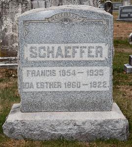Schaeffer, Francis 1854 - 1935 and Ida Esther 1860 - 1922.