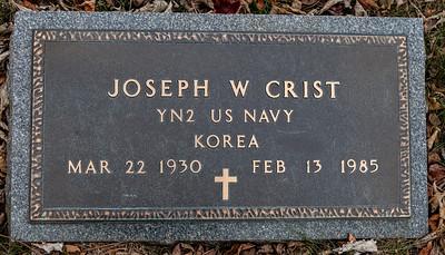 Joseph W. Crist, YN2 US Navy, Korea. March 22, 1930 - Feb 13, 1985