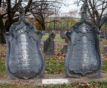 Left: Joseph Naftzinger, 1843 - 1871 Right: Jariah S. (nee Dunkel) Naftzinger, 1841 - 1875
