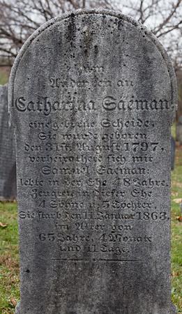 Catharina Saeman (Seaman) ... 31 (?) 1797 ... 5 (?) ... 1863