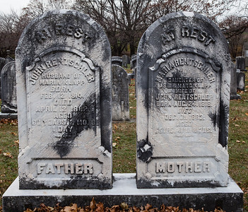 Left: John Rentschler, 1814 - 1882 Right: Maria Rentschler, 1818 - 1883