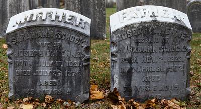 Left: Sarah Ann Schock, 1831 - 1874 Right: Joseph K. Henne, 1823 - 1902