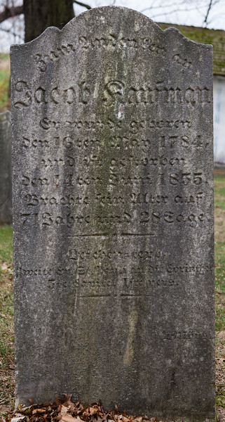 Jacob Kaufman, May 16, 1784 - June 14, 1855